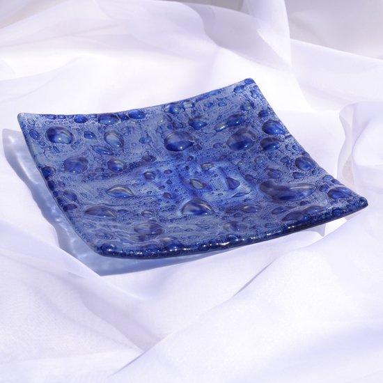 Bowl dark blue 20x20 shallow arteglass treniq 6 1516295384617