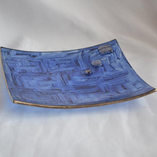Bowl dark blue with oldplatinum 20x20 shallow arteglass treniq 7 1516295438404