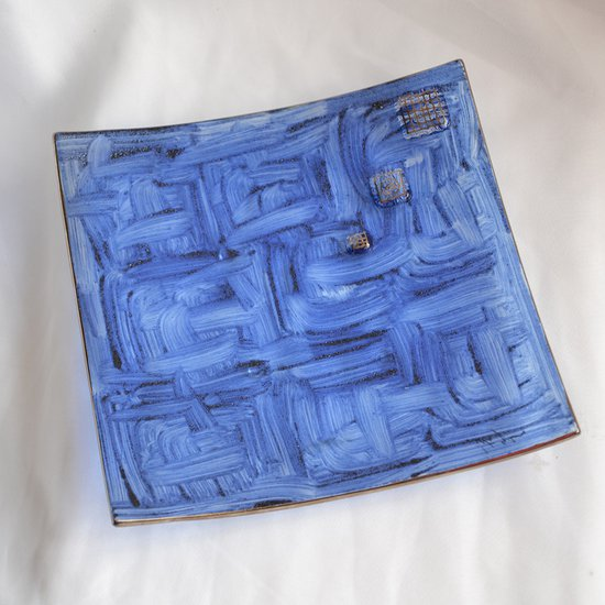 Bowl dark blue with oldplatinum 20x20 shallow arteglass treniq 7 1516295438453