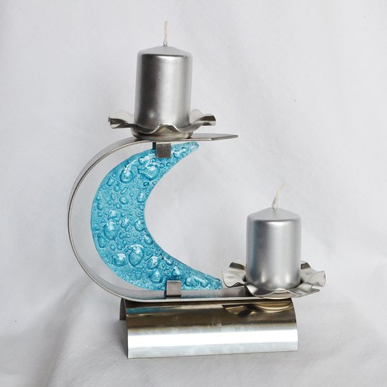Candlestick %22c%22 stainless steel   turquoise glass arteglass treniq 3 1516295754770