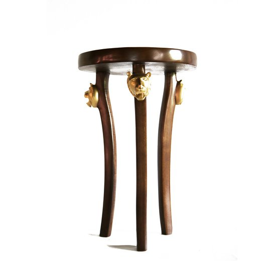 3 legged lion head table avana africa treniq 1 1516362649985