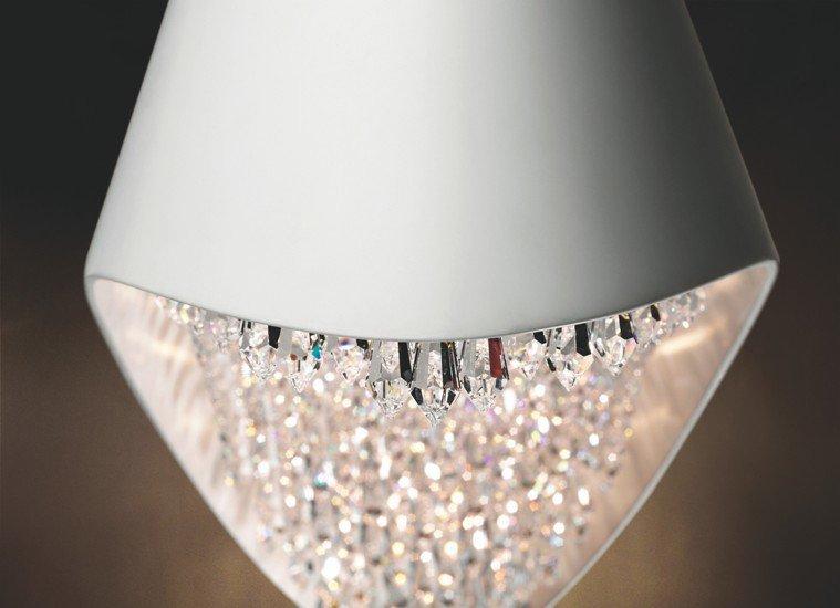 Dolcevita 1100 white pendant lamp swarowski crystals remote control younique plus treniq 1 1516381068814