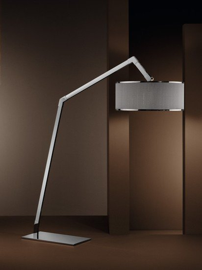 Ginevra arco pleated shade chrome floor lamp younique plus treniq 1 1516615723360