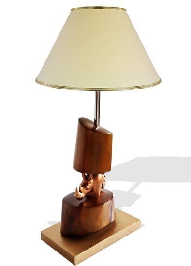 Bronze double head rhino lamp avana africa treniq 1 1516795646655