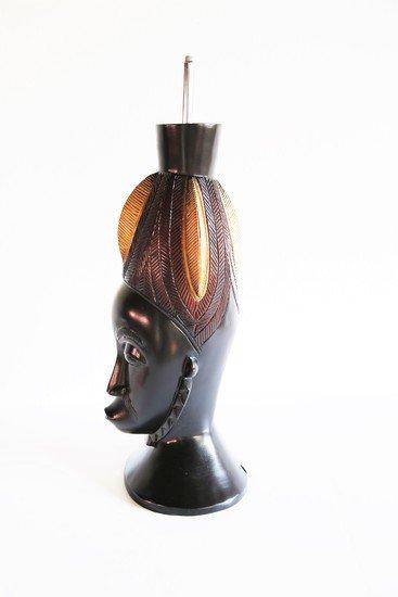 Baule mask   gold and black avana africa treniq 1 1516796954677