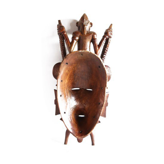 Senoufu mask with man on head   medium  avana africa treniq 1 1516871241434