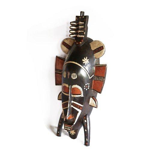 Painted senoufu twin kpelie mask avana africa treniq 1 1516871789704