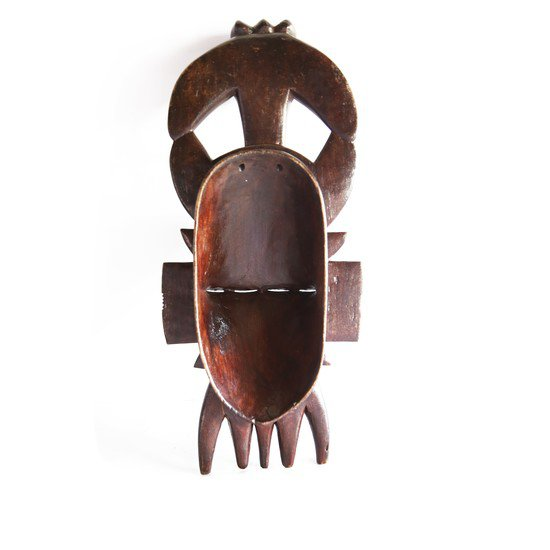 Double faced senoufu mask with 3 birds on headgear avana africa treniq 1 1516873851578