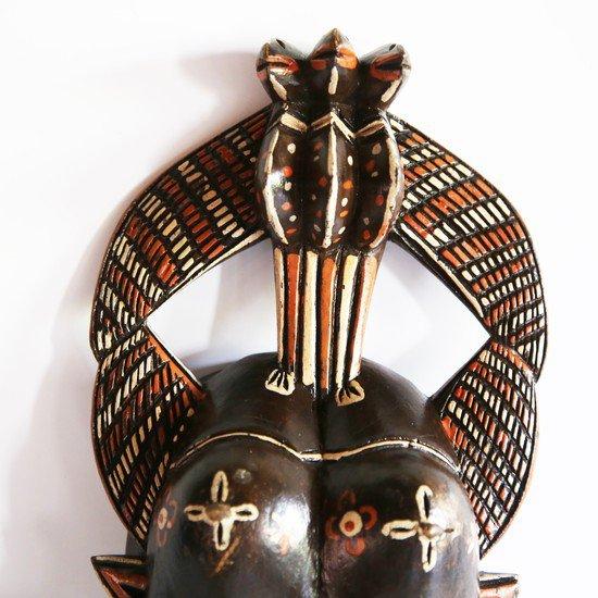 Handpainted distinctly cubist senoufu twin kpelie mask  avana africa treniq 1 1516874098717