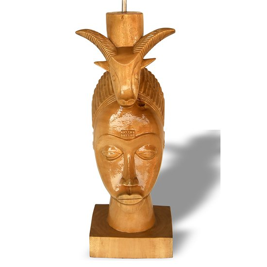 Baule mask with ram on head avana africa treniq 1 1516877290187