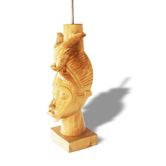 Baule mask with ram on head avana africa treniq 1 1516877290195