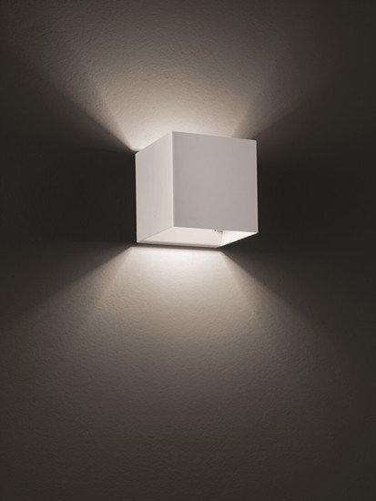 Laser cube 10x10 wall lamp matt white 9010 (2700k) studio italia design treniq 1 1516895945512