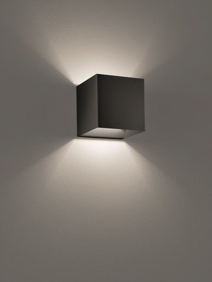 Laser cube 10x10 wall lamp matt black (3000k) studio italia design treniq 1 1516896293566