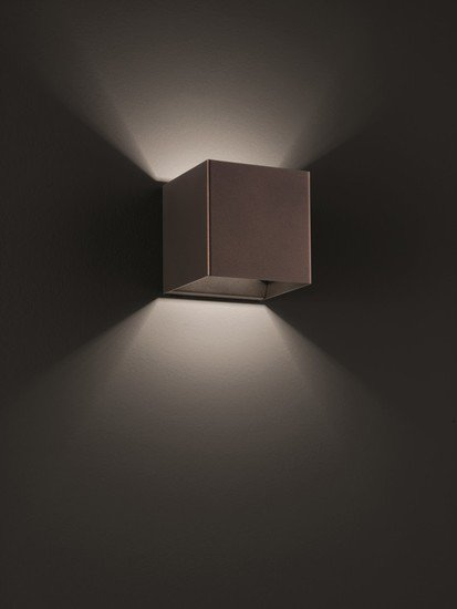 Laser cube 10x10 wall lamp coppery bronze (3000k) studio italia design treniq 1 1516896348896