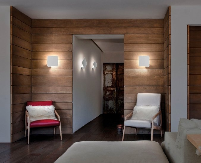Puzzle square single wall lamp matt white (2700k) studio italia design treniq 1 1516963242904