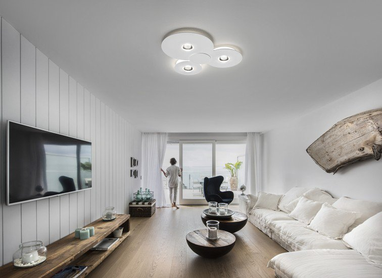 Bugia single ceiling lamp white (2700k) studio italia design treniq 1 1516975697266