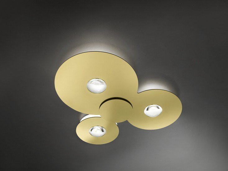 Bugia triple ceiling lamp gold (2700k) studio italia design treniq 1 1516977985796
