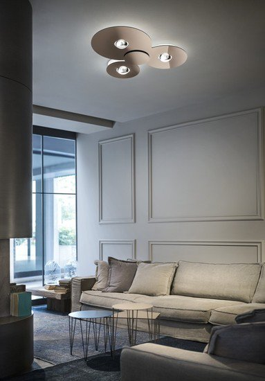 Bugia triple ceiling lamp glossy copper (2700k) studio italia design treniq 1 1516979172625