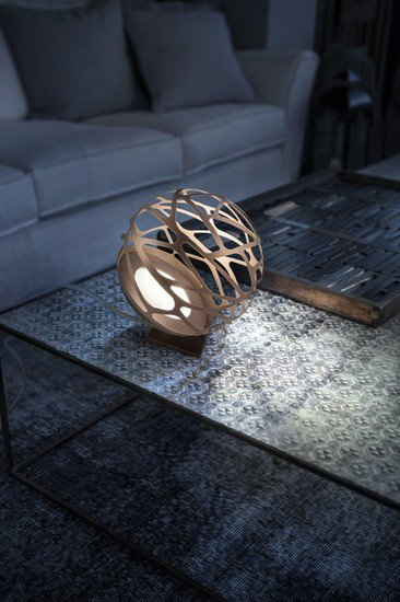 Kelly mini sphere table lamp coppery bronze  studio italia design treniq 1 1516979979353