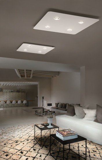 Frozen large ceiling lamp matt white (3000k) studio italia design treniq 1 1517236557622
