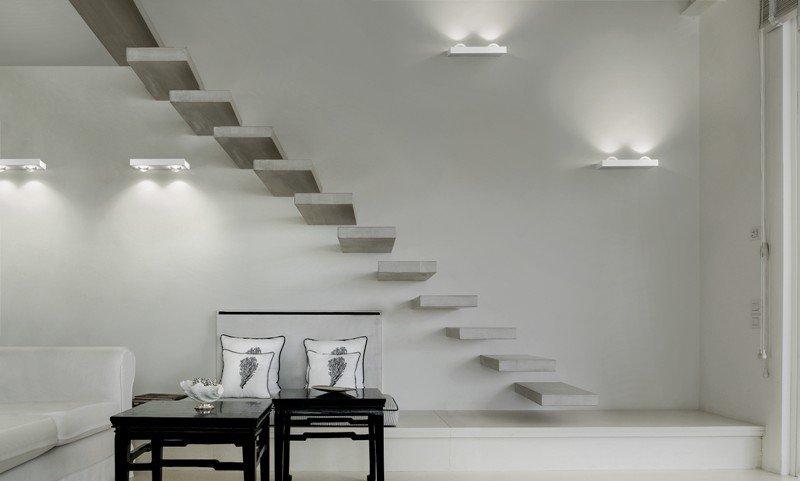 Shelf double wall lamp matt white (2700k) studio italia design treniq 1 1517237569718
