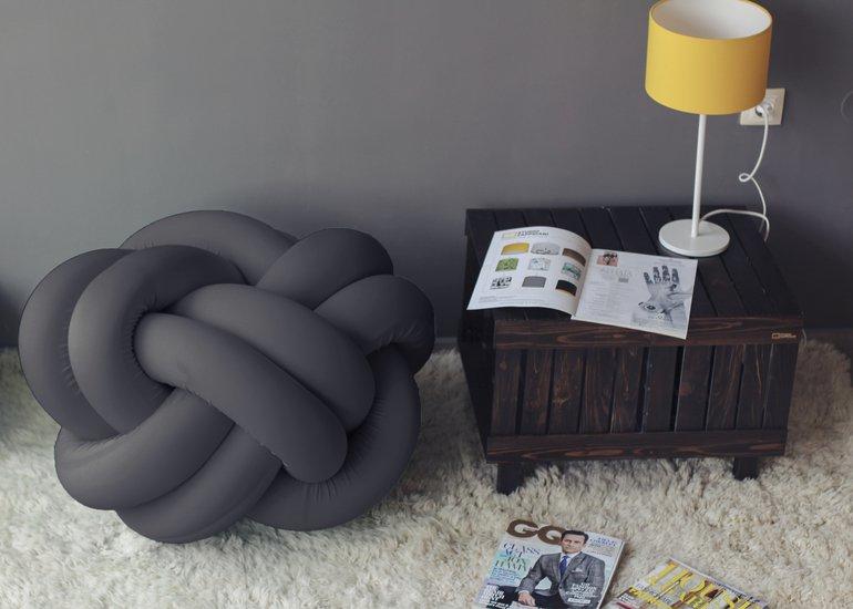Knot pouf flexy black studio zappriani treniq 1 1517324472118