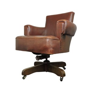 Whisky-Brown-Leather-Captains-Chair-From-Hillcrest,-1920s_Danielle-Underwood_Treniq_0