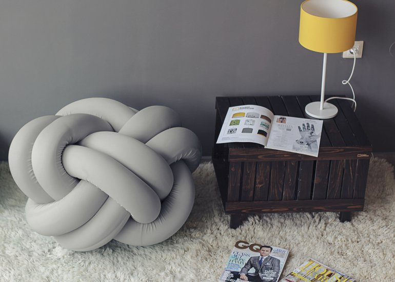 Knot pouf flexy light grey studio zappriani treniq 1 1517324734287