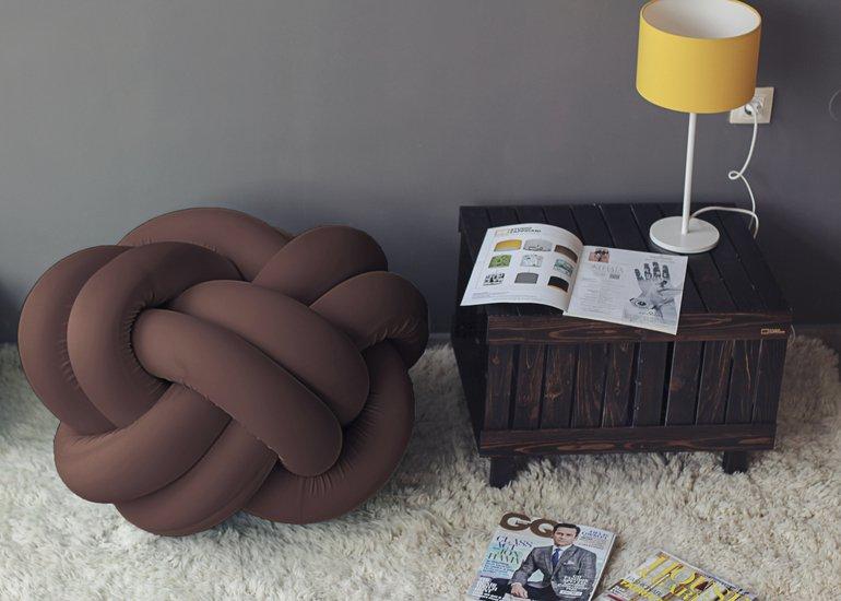 Knot pouf flexy brown studio zappriani treniq 1 1517326185262