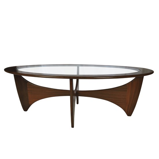Oval solid teak coffee table danielle underwood treniq 1 1517326291933