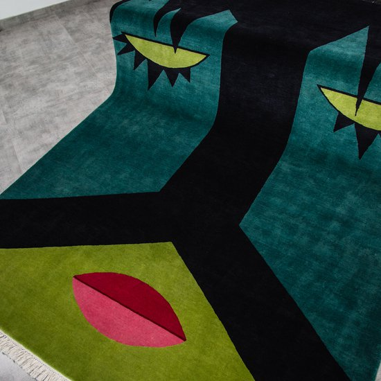 Hand knotted carpet %22goodnight%22 by cecilia stterdahl cs carpets cc treniq 1 1517902593135