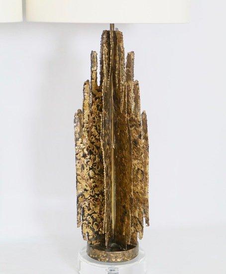 Monumental mcm brutalist pair of lamps  paul evans manner sergio jaeger treniq 1 1517938654975