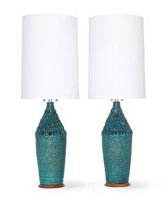 Mid-Century-Modern-Quartite-Creative-Corp.-Brutalist-Style-Lamps-In-Turq_Sergio-Jaeger_Treniq_0