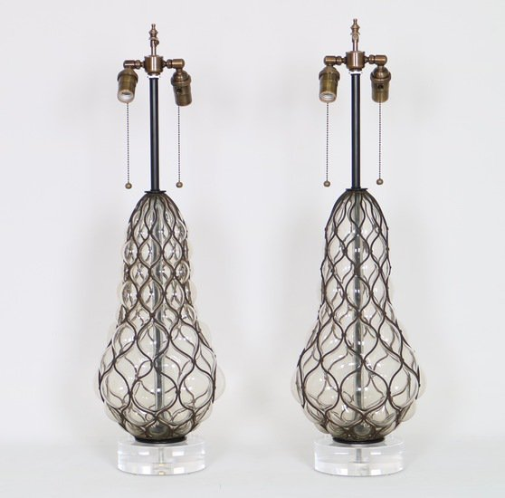 Murano caged glass lamps by marbro sergio jaeger treniq 1 1517944683162