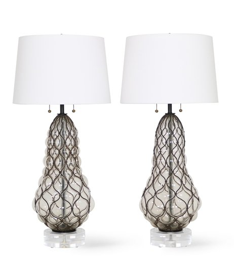 Murano caged glass lamps by marbro sergio jaeger treniq 1 1517944683167