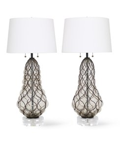 Marbro-Hollywood-Regency-Caged-Murano-Glass-Lamps_Sergio-Jaeger_Treniq_0