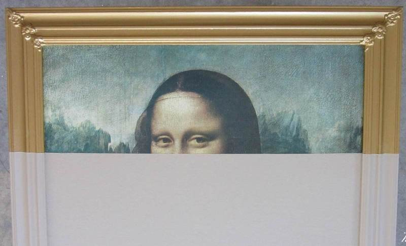 Peekaboo monalisa   restyled canvas habitat improver   furniture restyle and applied arts treniq 1 1518022715983
