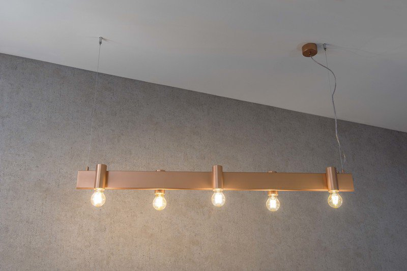 Minimal suspension lamp satin copper marchetti treniq 1 1518173014638