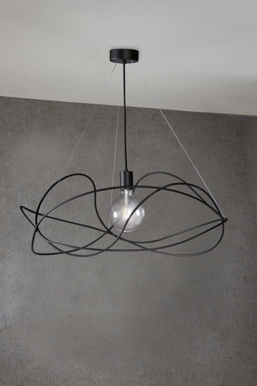 Garbuglio suspension lamp with glass sphere black marchetti treniq 1 1518174560909