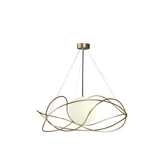 Garbuglio suspension lamp with glass sphere satin gold marchetti treniq 1 1518174952353