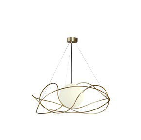Garbuglio-Suspension-Lamp-With-Glass-Sphere-Satin-Gold_Marchetti_Treniq_0