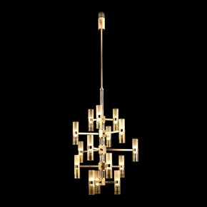 Hexigo,-Satined-Glass-And-Gold-Metal-Structure-Chandelier_Multiforme-Lighting_Treniq_0