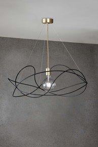 Garbuglio-Suspension-Lamp-Black/Gold-With-Glass-Sphere_Marchetti_Treniq_0