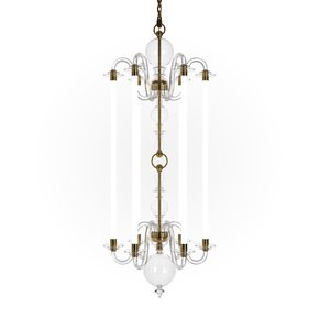 Echo Medium Glass Arm Chandelier