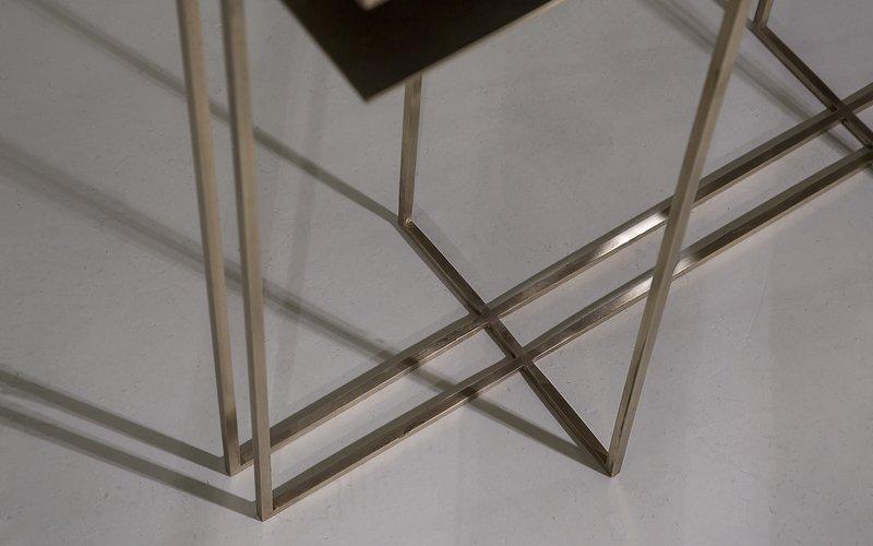 All brass cross binate console table novocastrian treniq 4 1518617981814