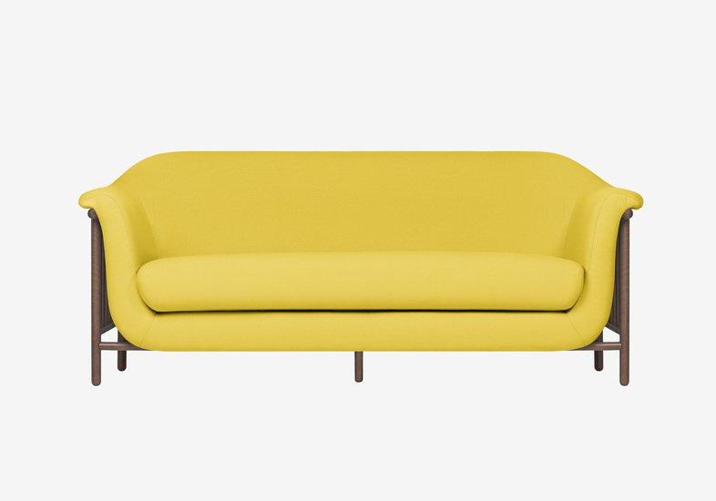 Valentim sofa   walnut   step fabric   dry yellow dam treniq 2 1518696080736