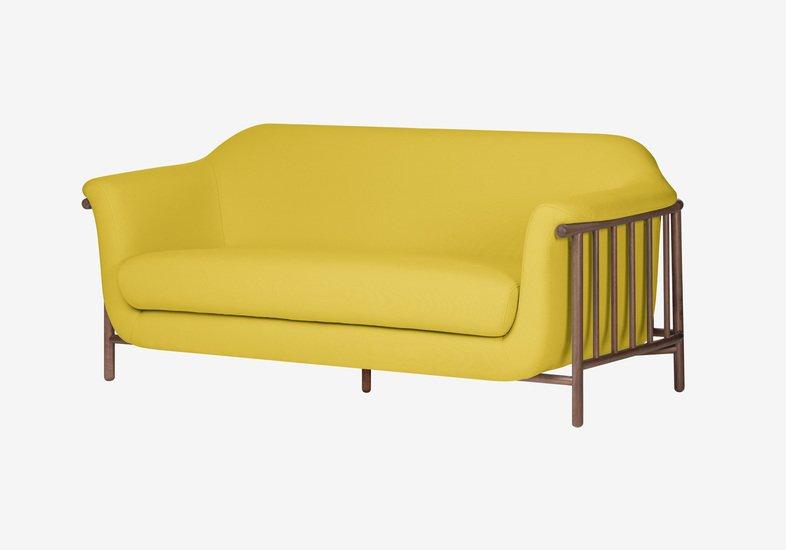 Valentim sofa   walnut   step fabric   dry yellow dam treniq 2 1518696093311