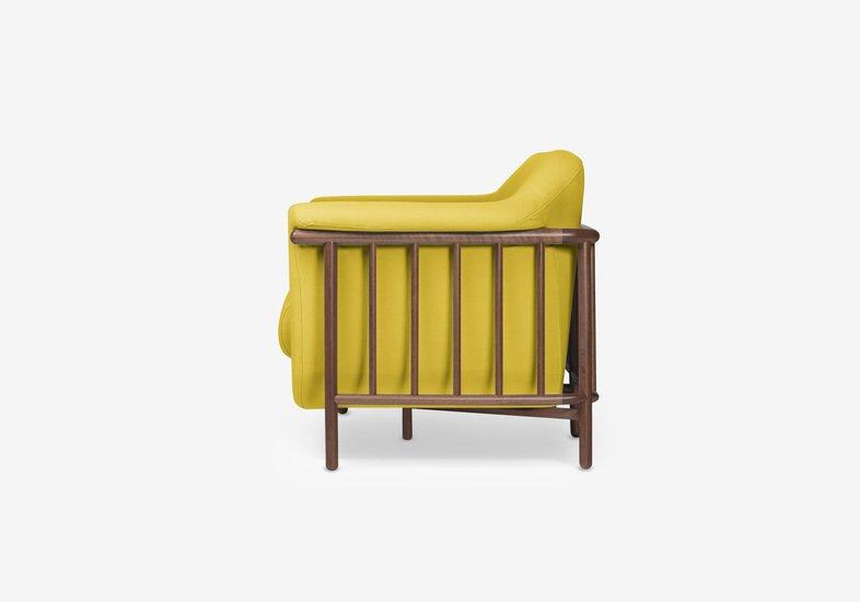 Valentim sofa   walnut   step fabric   dry yellow dam treniq 2 1518696106309