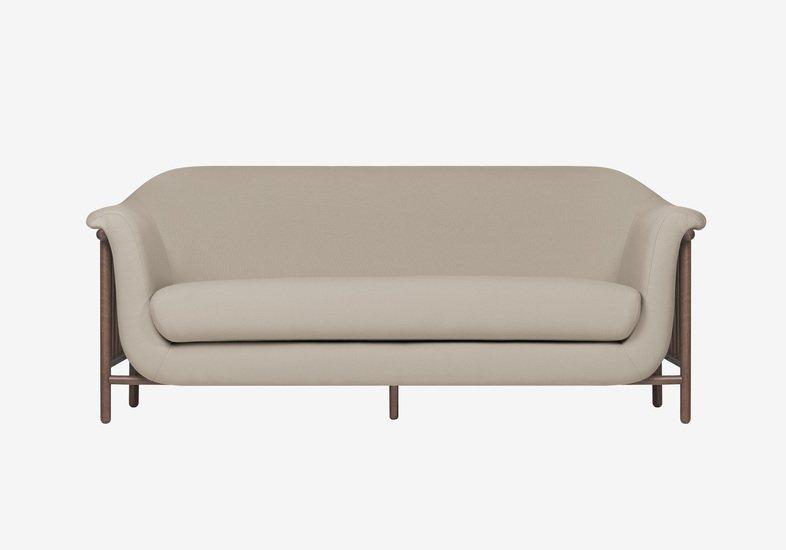 Valentim sofa   walnut   step fabric   serene beige dam treniq 2 1518696245861