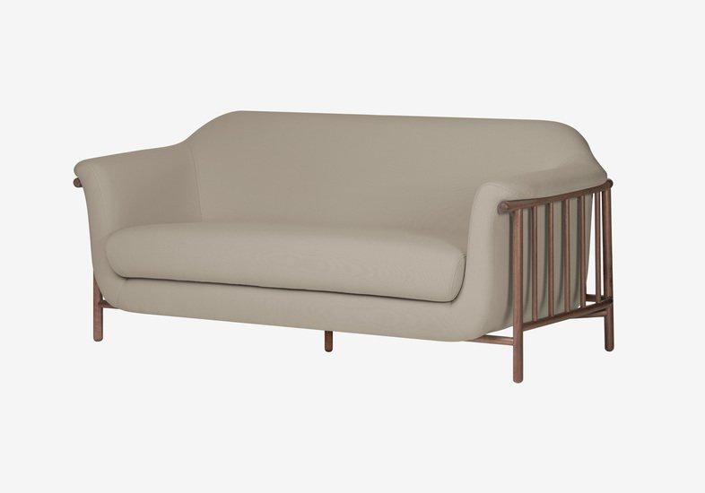 Valentim sofa   walnut   step fabric   serene beige dam treniq 2 1518696253513